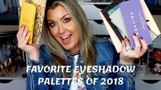 MY FAVORITE EYESHADOW PALETTES FOR 2018 | GIVEAWAY | HOT MESS MOMMA MD