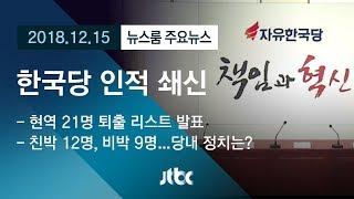 [뉴스룸 모아보기] 한국당, 현역 21명 '아웃'…후폭풍 예고