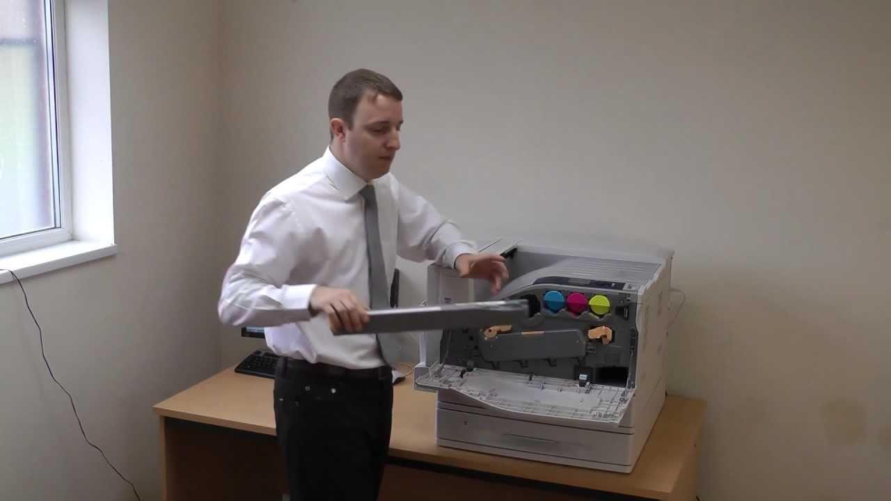 Xerox Phaser 7500 Printer Review by Printerbase - YouTube