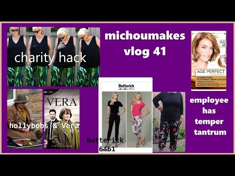 Butterick 6461 Review - Charity Make - Colour disaster - Vera TV Series
