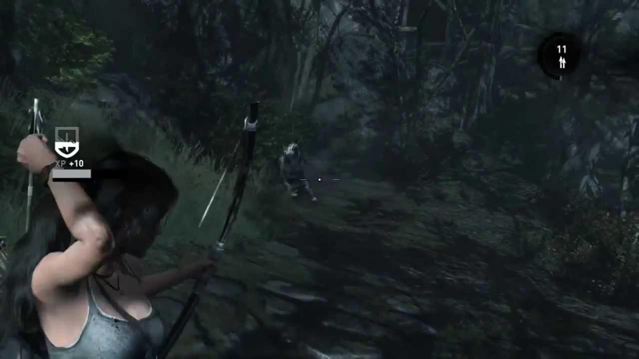 Random Wolf Encounters/Coastal Forest Treasure Map Location - Tomb Raider:  DE Xbox One Gameplay