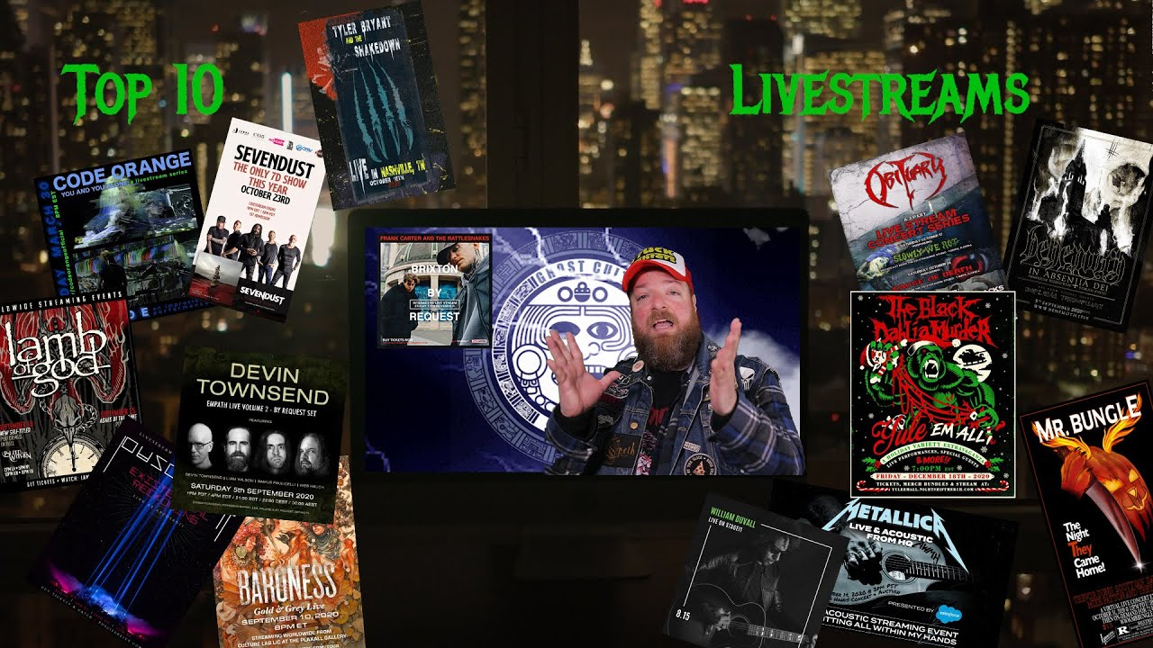 Ghost Cult's Top 10 Livestreams of 2020 🎸🎙️🎹📹📺🎥📱