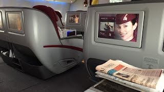 Qatar Airways 777 Business Class London to Doha