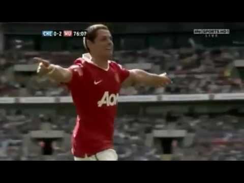 Gol Chicharito vs Chelsea 2010 Community Shield (con la cara)