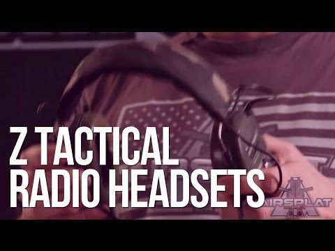 Z Tactical Airsoft Tactical Radio & Communication Headsets - AirSplat On Demand