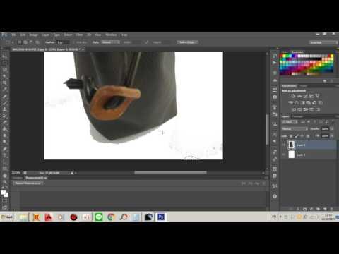 วิธีการทำพื้นหลังสินค้าสีขาวล้วน Adobe Photoshop