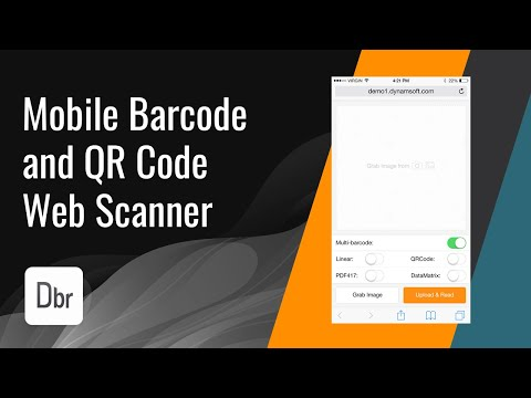 Barcode and QR Code Scanner in Mobile Web Browsers