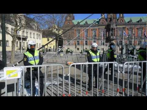 40 Minutes War: Swedish Defence League Rally in Malmö