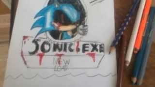 How to draw sonic.exe part 2