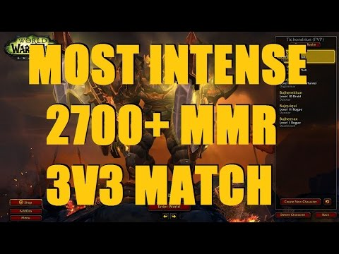 Bajheera - THE MOST INTENSE 3v3 ARENA EVER (2700+ MMR) - WoW 7.1.5 Fury Warrior PvP