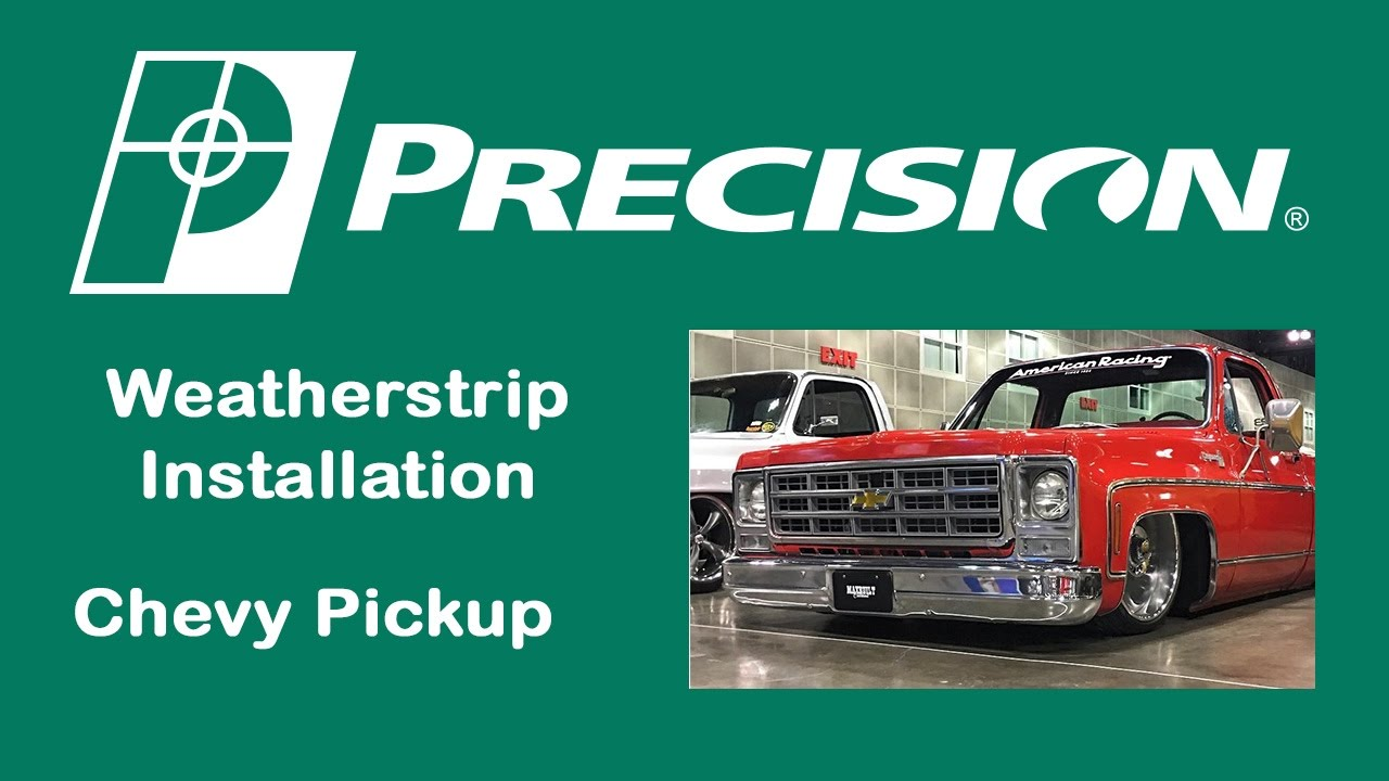small resolution of 1973 1987 chevy truck door weatherstrip seal install