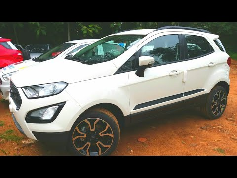 2018 New Ford EcoSport Signature Edition with Fun Roof - Diamond White and Lightening Blue Color !!