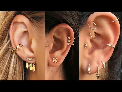 Designer Double Piercing Earrings Designs 2019