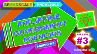 Philippine Government Agencies Acronym_Release # 3