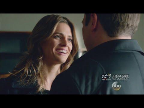 "Castle 7x11  ""Castle, P.I."" (HD) Beckett Calls Castle Baby & Kisses Him Caskett Theory Building"