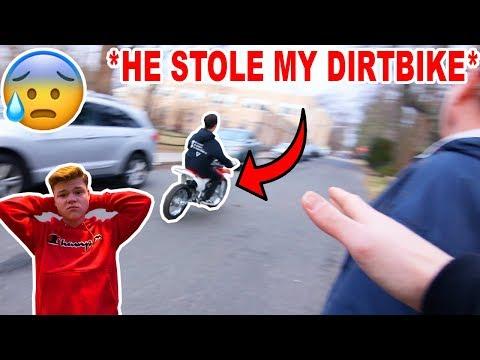 My School Bully STOLE My Dirt Bike! *CRAZY*