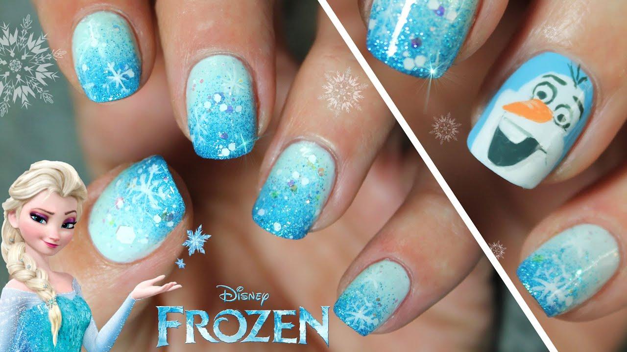 Diseño De Uñas Frozen Disney Paso A Paso Cómo Dibujar A Olaf Youtube
