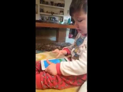 2 year old boy's reaction after losing on Flappy Bird