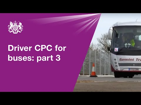 Driver CPC for buses: module 3 - driving test