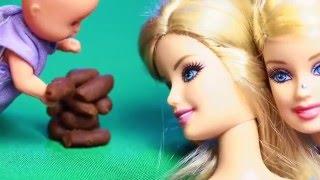 Барби, пупсик и какающая собака  Видео с куклами для девочек  Играем в игрушки  Barbie