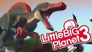 LBP3 - Jurassic Park Spinosaurus T-Rex & Mini Indominus Rex in Dinosaur City! Dinosaurs Strike Back