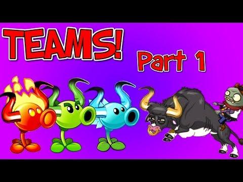 Plants vs. Zombies 2 Teams vs Rodeo Legend Zombie Part 1