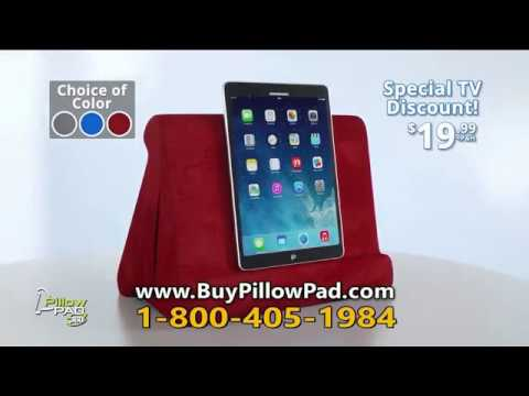 Pillow Pad Tablet Stand Commercial As Seen On Tv Youtube