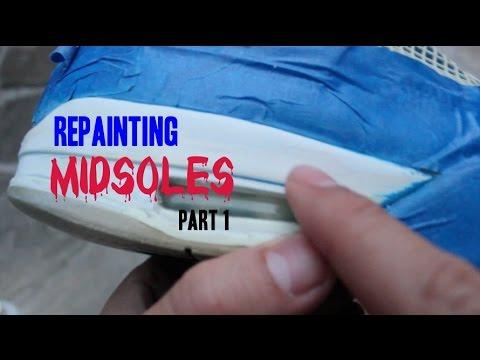 0f1a836fd0bdd4 Jordan 4 Midsole Repainting (Pt1  Stripping) - YouTube