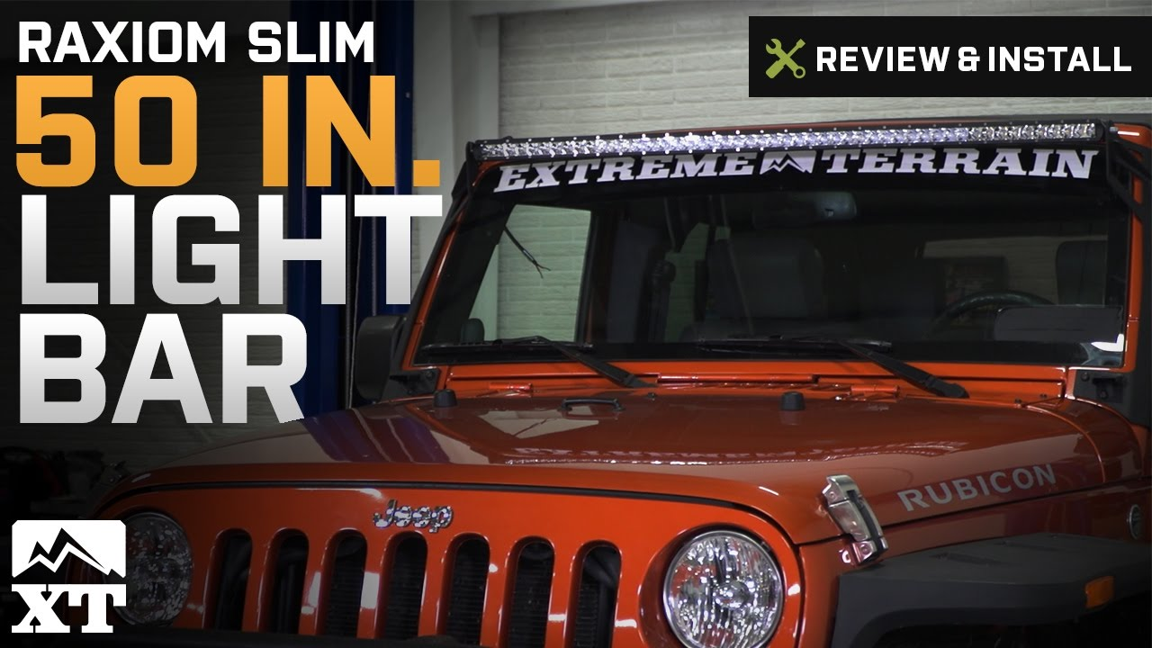 2d292fc9a95 Raxiom Jeep Wrangler 50 in. Slim LED Light Bar - Flood/Spot Combo J105855