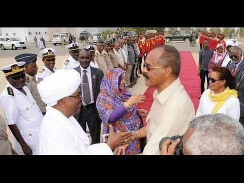 Sudan President Al Bashir leaves Eritrea Trip Massawa Airport