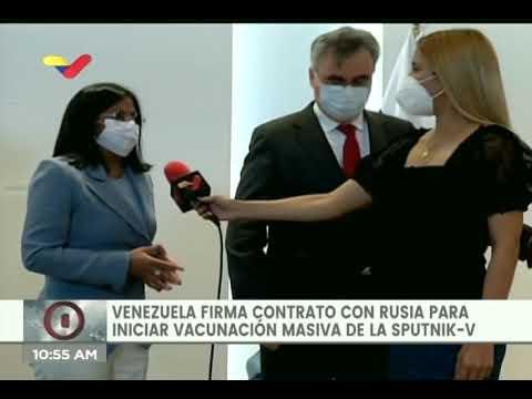 Venezuela firma acuerdo con Rusia para 10 millones de vacunas Sputnik V contra el Covid-19