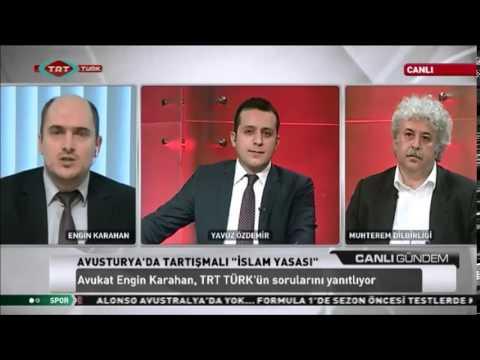 TRT Türk yeni Islam Yasasi'ni konusuyor (Engin Karahan)
