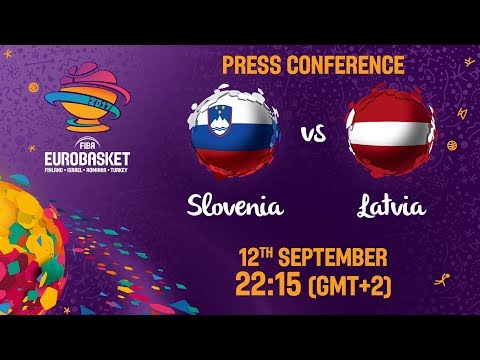 Slovenia v Latvia - Press Conference - FIBA EuroBasket 2017