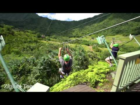 Kualoa Treetop Canopy Zipline Tour - Video ... : tree top canopy - memphite.com