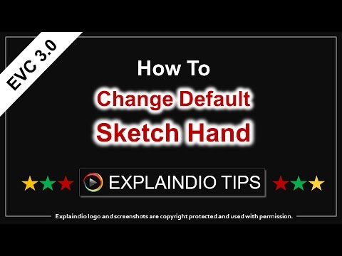 Explaindio Tips - How to Change Default Sketch Hand