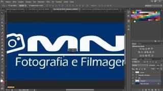 Tutorial Básico Photoshop -  (02) Criando Logo com fundo transparente