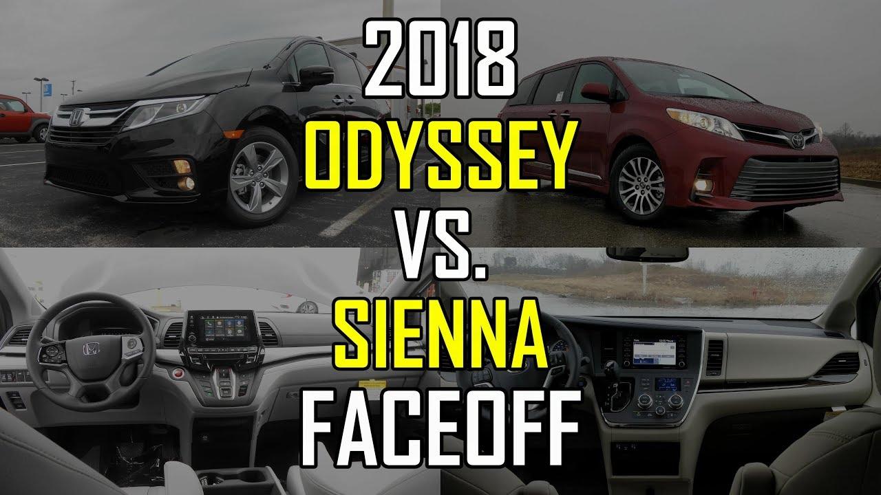 Honda Odyssey Vs Toyota Sienna >> 2018 Honda Odyssey Ex L Vs 2018 Toyota Sienna Xle Faceoff Comparison
