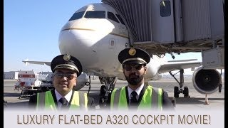 INCREDIBLE CREW & Corporate-Jet-like Saudia A320 ULTIMATE COCKPIT MOVIE[AirClips full flight series]
