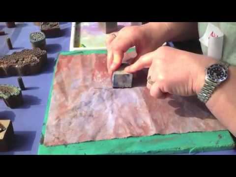 Textile Design - Block Printing using Decolourant