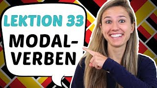 GERMAN LESSON 33: Introduction to German MODAL VERBS (can, must, want etc)
