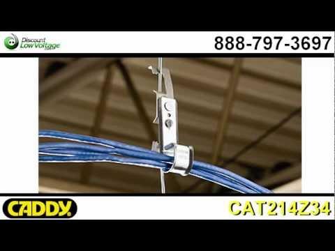 CAT214Z34 Erico Caddy J Hook w/ Drop Wire Clip