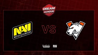 Natus Vincere vs Virtus.pro, DreamLeague S13 QL, bo2, game 2 [Jam & Mael]