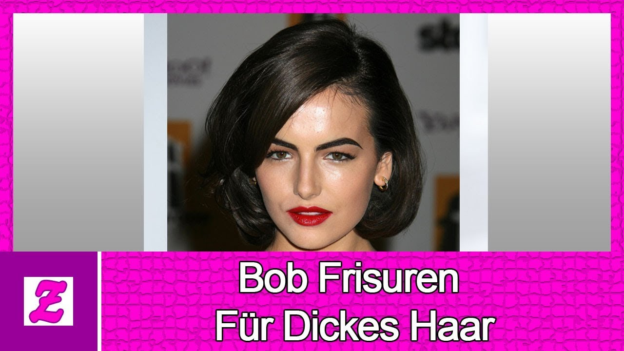 Der Ultimative Leitfaden Für Bob Frisuren Für Dickes Haar Youtube