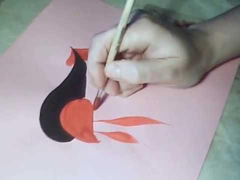 Хохломская роспись поэтапное рисование Как научиться
