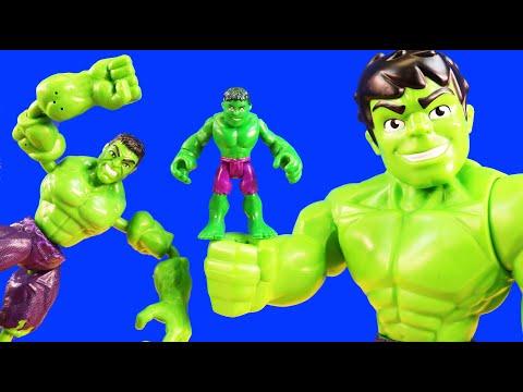 Imaginext Skateboard Dude Controls Bend And Flex Hulk | RC Mega Mighties Spider-man Robot Superhero