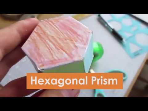 Easy Paper Hexagonal Prism in 4 Minutes: Awesome Cadecraft Art