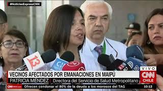 Vecinos afectados por emanaciones en Maipú tras explosión de fábrica de productos químicos