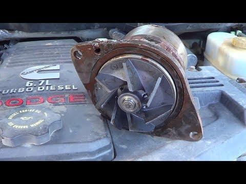 Replacing a Dodge Cummins 6.7 coolant / water pump , 2008,2009,2010,2011,2012