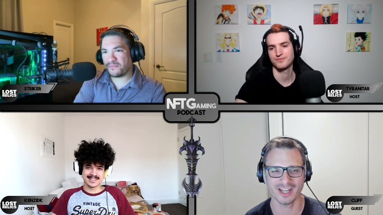 Download NFTGaming Podcast #1 with special guest: Cliff Cawley, creator of Lost Relics