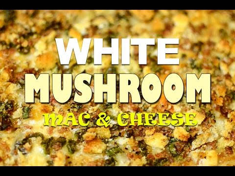 White Mushroom Mac And Cheese With Bacon Breadcrumb Topping Video